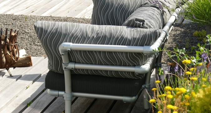 instelbare loungebank voor in de tuin