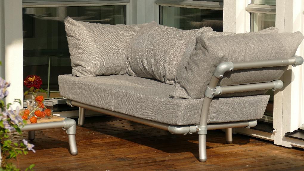 buiten meubel aluminium buis
