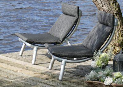 loungestoelen voor buiten in all weather 4 seizoenen loungekussens in antraciet grijs