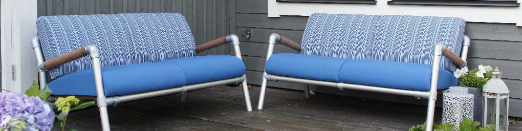 lavendel blauwe buiten loungemeubels