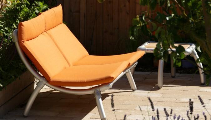 lounge meubel voor buiten in de tuin