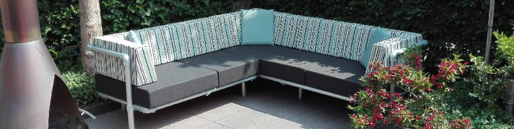 design lounge hoekbank voor buiten op het terras