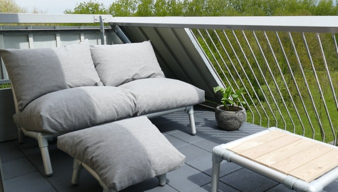 loungebank balkon tuin