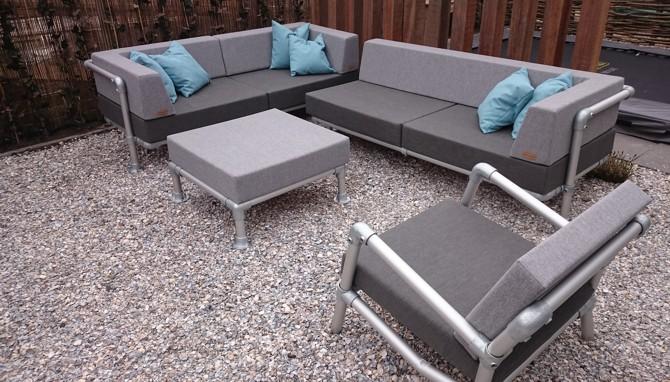 loungeset tuin aluminium frame