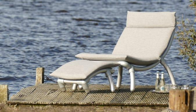 all weather design lounge stoel voor in de tuin