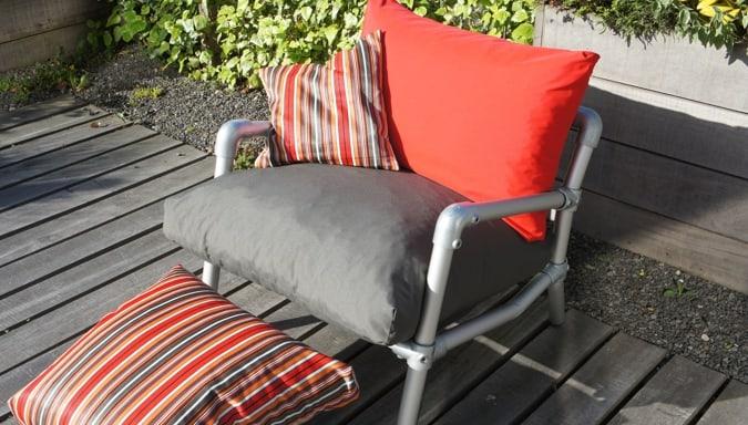 loungestoel tuin rood