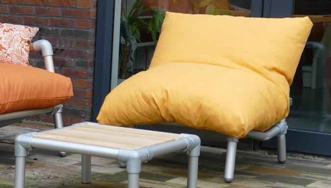 loungestoel zitzak tuin