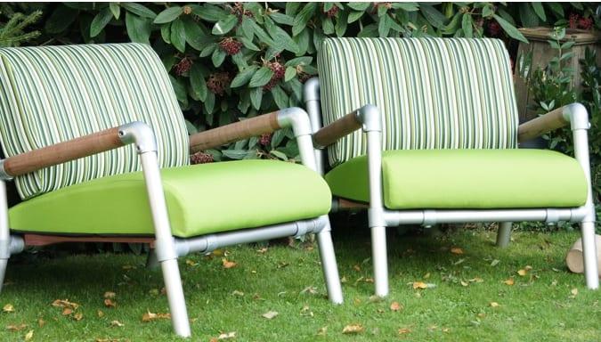 loungestoel tuin kleur groen