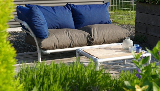 relax loungebank tuin
