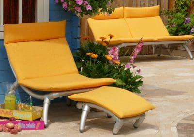 loungestoel tuin met all weather kussens