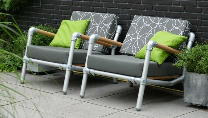 loungestoelen voor in de tuin