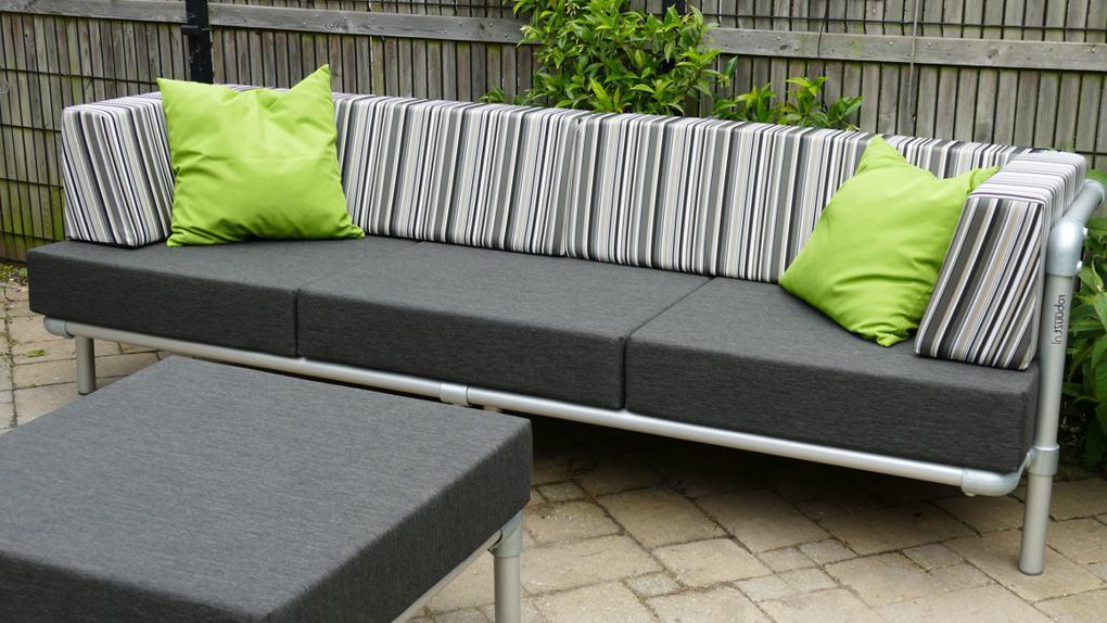 loungebank op maat voor in de tuin