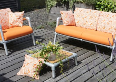 lounge set tuin in de kleur oranje
