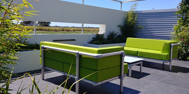 modern design loungebanken voor in de tuin