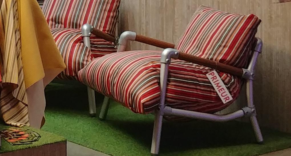 stoere loungestoel voor in de tuin