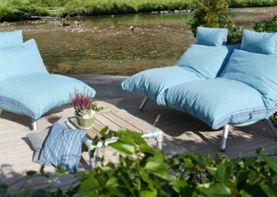 lounge stoel en loungebank voor buiten