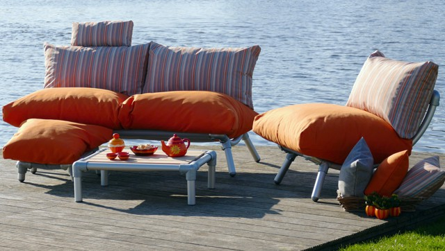 loungebanken met comfortabele kussens