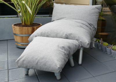 lounge stoel met zitzak lounge kussen