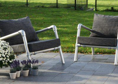 lounge stoelen antraciet voor buiten