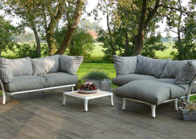 lounge hoekbank voor in tuin