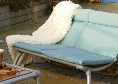 loungebank voor in de tuin of terras