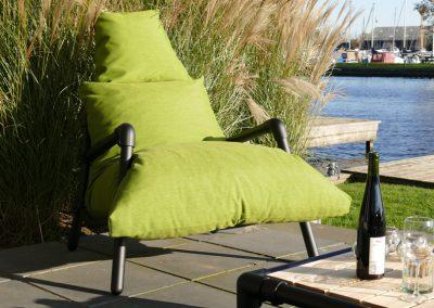 industrieel lounge stoel buiten