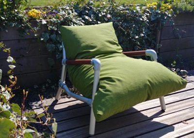 loungestoel tuin groen