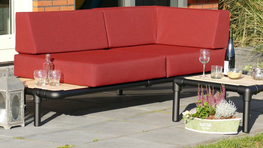 design loungebank buiten