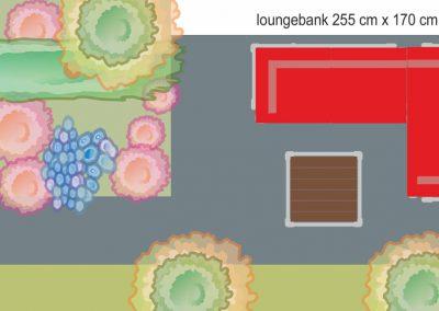 loungeset buiten in ontwerp tuin