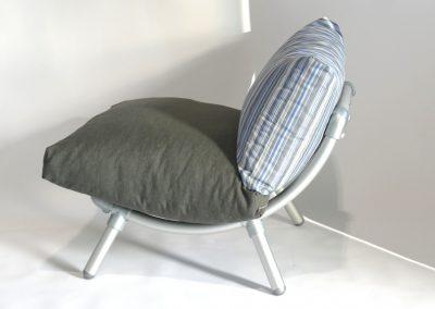 loungestoel donker grijs