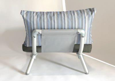 loungestoel tuin donker grijs