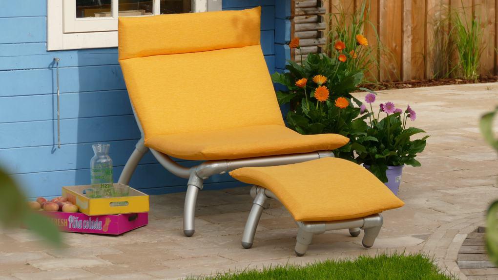 modern design loungestoel voor buiten