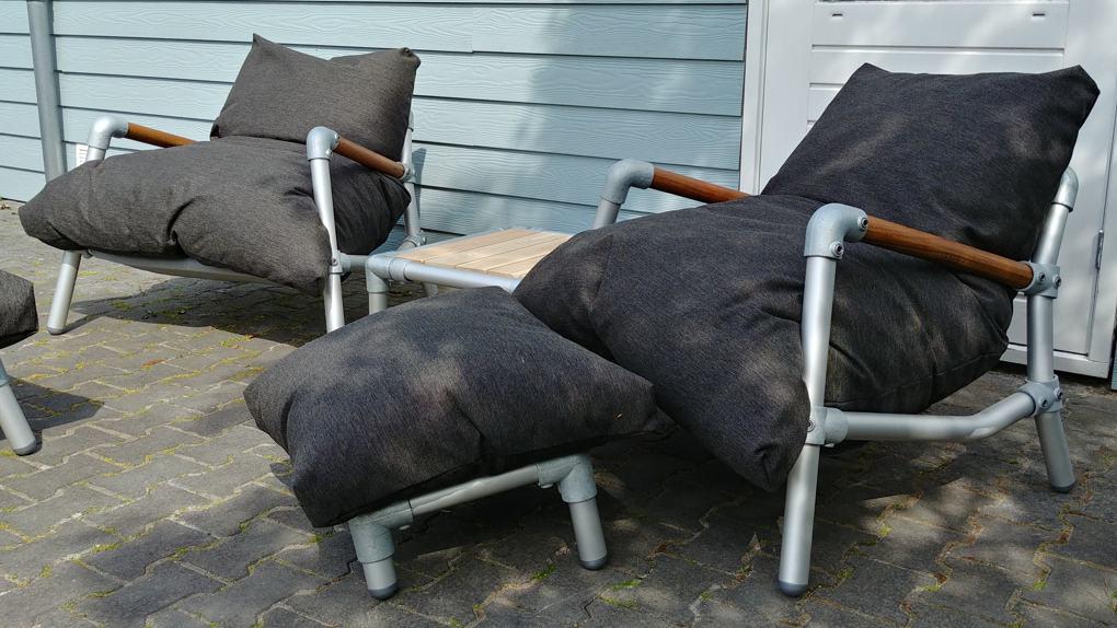 zitzak stoel voor in de tuin