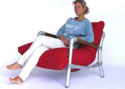 zitverhoudingen loungestoel