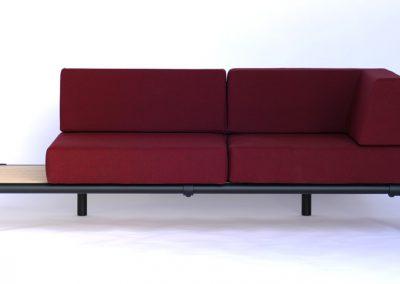 zwarte steigerbuizen loungebank