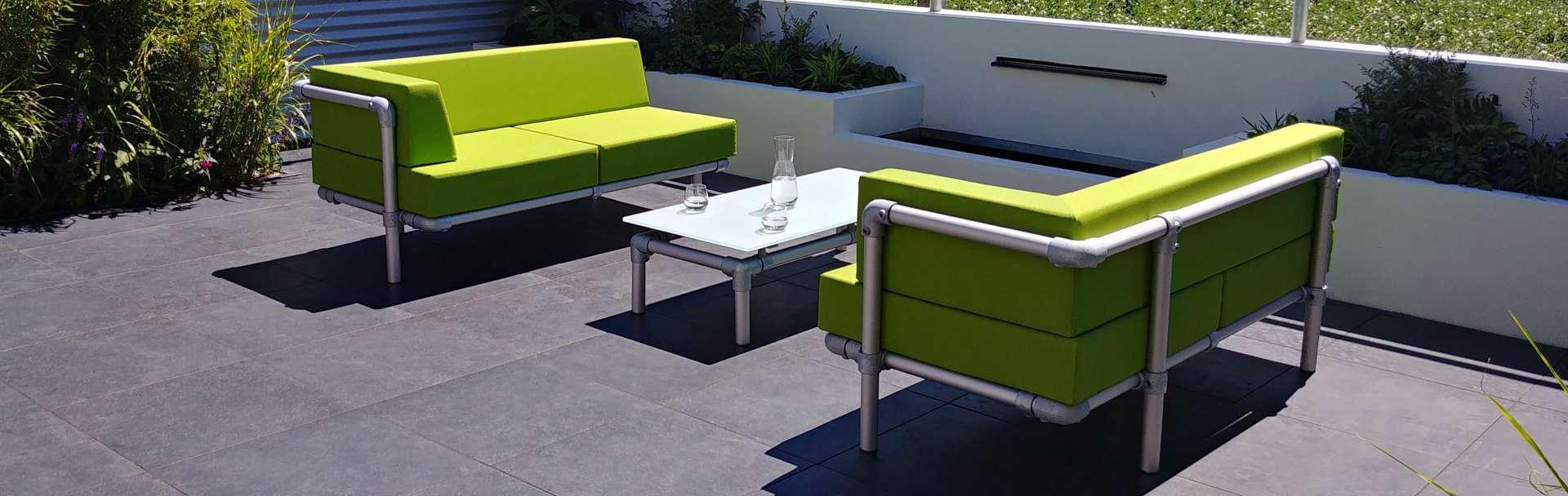 loungebanken op maat voor de tuin